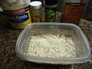 Chicken Salad with leftover poached Chicken Thigh meat
